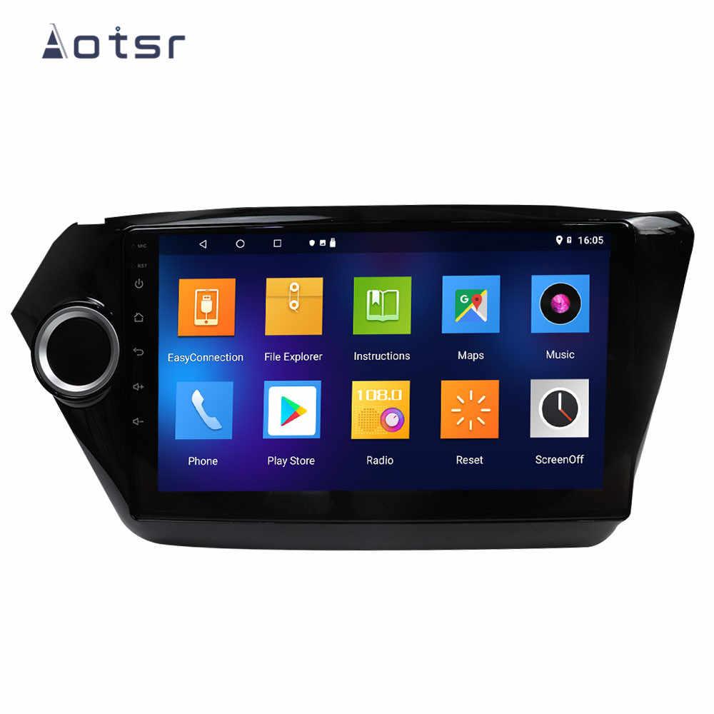 DSP アンドロイド 9.1 カー Dvd プレーヤー GPS ナビゲーション起亜リオ K2 2010-2017 車 SatNav 自動ステレオラジオマルチメディアプレーヤーのヘッドユニット