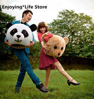 Advertising Easter Panda Teddy Bear Heads Mask Mascot Costume Valentine's Day for Lovers Accessory Cosplay Halloween Mask New
