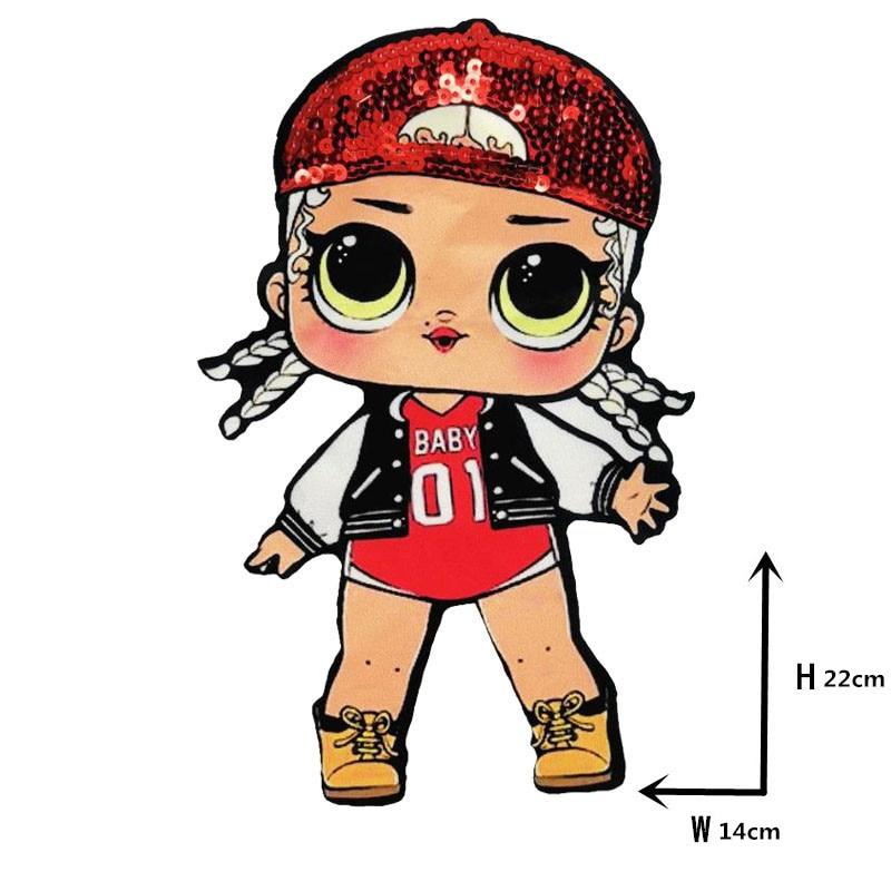 Мультяшные нашивки женские модные куклы лол для девочек Милая Модная Кукла-мальчик вышивка на одежду ручная работа украшение одежды Блестки Ткань - Цвет: WW-28