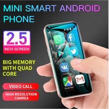 Mini soyes xs11 android 6.0 celular 3d vidro magro corpo duplo sim 1gb 8gb quad core 1000mah google play mercado bonito smartphone