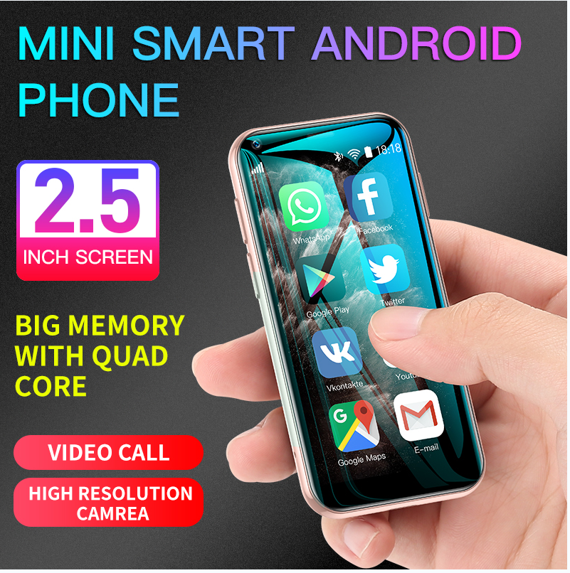 Mini SOYES XS11 Android 6.0 Cellphone 3D Glass Slim Body Dual Sim 1GB 8GB Quad Core 1000mAh Google Play Market Cute Smartphone