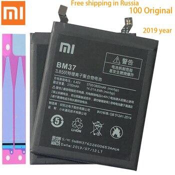 Batería de repuesto Original para Xiaomi Mi 5S plus 5Splus BM37, batería de teléfono Original de 3700mAh