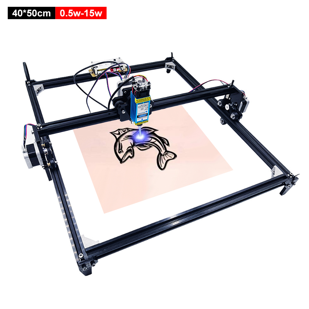 40*50cm Laser Engraving Machine Wood Router 2 Axis DIY Desktop Laser Engraver Cutter For Wood Metal Engraving Printer 0.5-15W