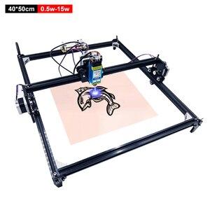 Gravador a laser 40*50cm, máquina de gravação a laser roteador de madeira 2 eixos diy desktop laser cortador para madeira metal gravura impressora 0.5-15w