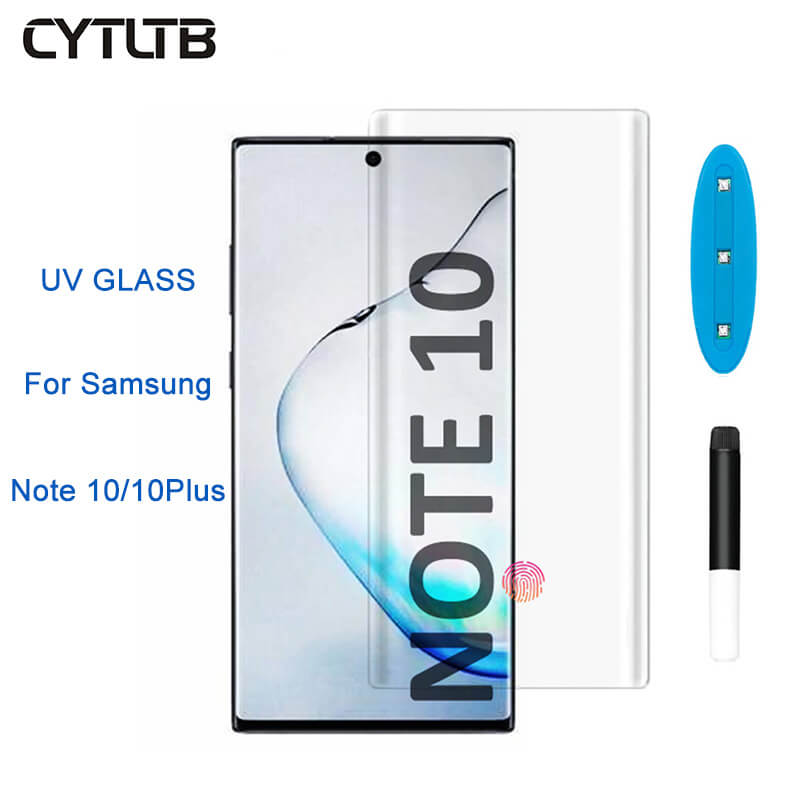 Nano Liquid Screen Protector For Samsung Galaxy Note 10 10 Plus Curved Corners Uv Lamp Light