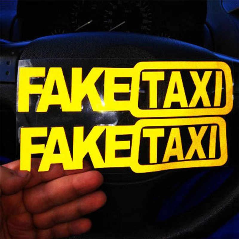 Universal Mobil Taxi Lucu Stiker untuk Hyundai Creta Tucson BMW X5 E53 VW Golf 4 7 5 Tiguan KIA RIO Sportage R KX5