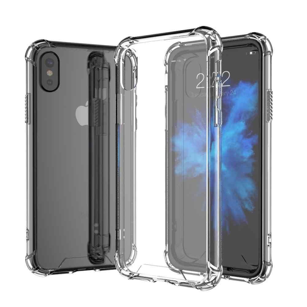 สำหรับ Apple iPhone 5 5S 6 6S 6 + Plus 7 7 + 8 8 + XS XR/XS Max Soft TPU กันชนเบาะอากาศกันกระแทกโทรศัพท์กรณีเชลล์