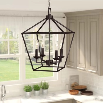 American Retro Iron Industrial Four-Head Chandelier Modern Minimalist Living Room Study Counter Restaurant Hanging Light chandelier lighting restaurant minimalist living room bedroom creative american european retro chandelier iron lights chandelier