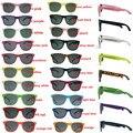 Один цвет 48 пар/лот оптовая продажа унисекс 80 Ретро стиль Модные солнцезащитные очки для свадьбы подарки на вечеринку для гостей пляж