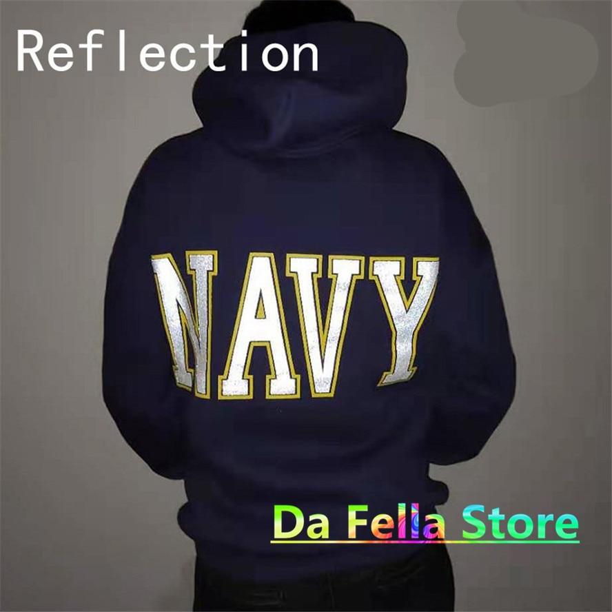 Jesus is king Kanye West United States Navy Reflective Logo Sweatshirts Hoodie  5