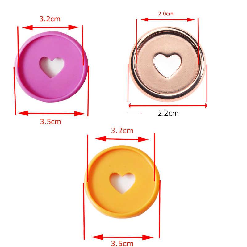 30 Pcs 35 Mm Warna-warni Hati Binder Cincin Jamur Lubang Longgar Daun Bulat Mengikat Plastik Disc Gesper Ring DIY binder Notebook