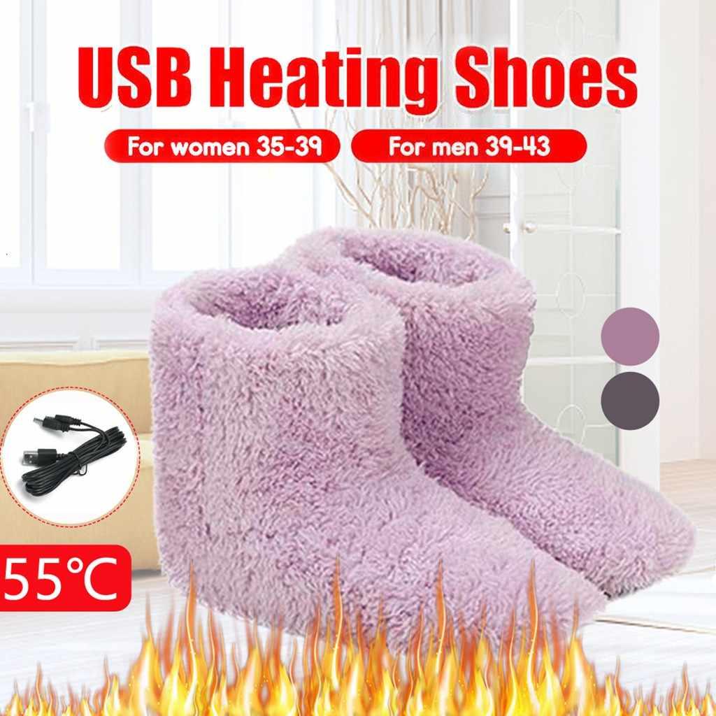 Çizmeler kadın USB ısıtmalı sıcak ayak kalın Flip Flop sıcak ayak ısıtıcı ayakkabı kış ısıtma yastığı ısıtma tabanlık sıcak rahat