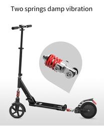 Skuter elektryczny 8 cali dla dorosłych Smart 2 koła składana długa deska Hover board elektryczny do kontrolowania prędkości wyświetlacz LCD z oświetleniem LED na