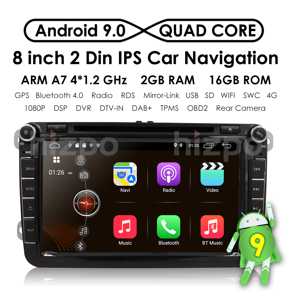 Univeral With VW/Volkswagen/Passat/POLO/GOLF/Skoda/Seat/Leon Android9.0 3