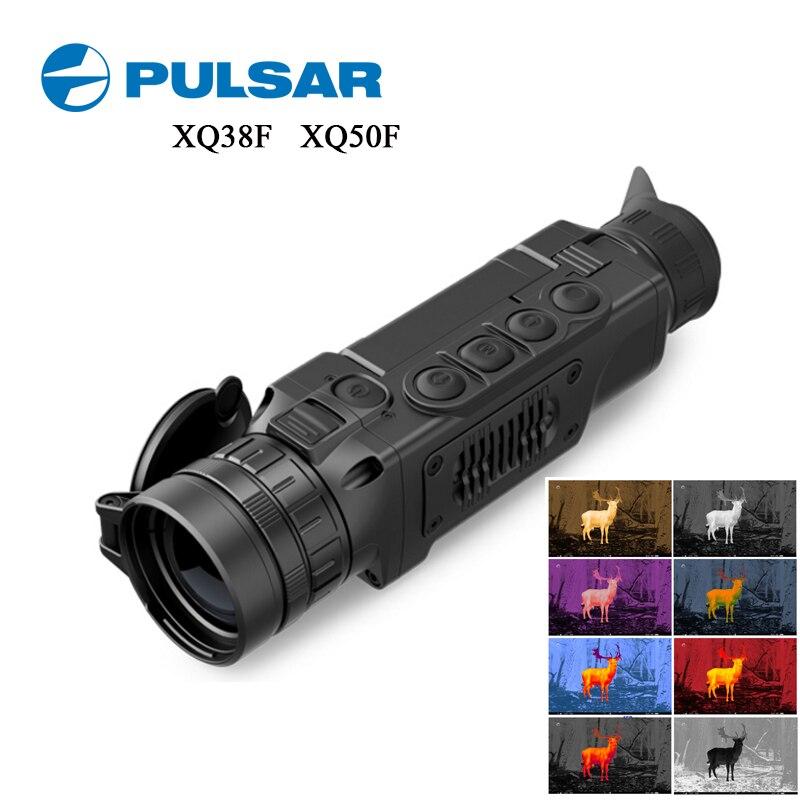 Handheld Pulsar XQ50F/XQ38F Thermische Imaging Nachtsicht Monokulare 50HZ Jagd Kamera Wifi App W/Entfernungsmesser Thermische imager