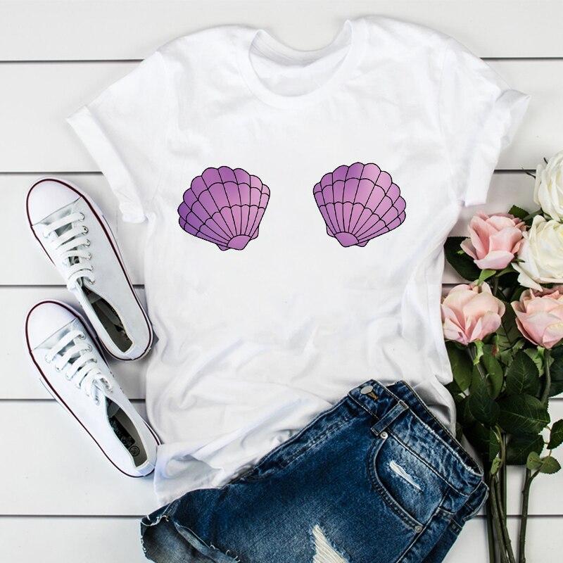 Women 2020 Beach Vacation Printed  Fashion Cute Printed Summer Shirt Ladies Womens T-shirts Top T Graphic Female Tee T-Shirt