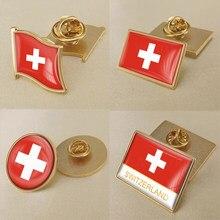 Герб Швейцарии/брошь с эмблемой национального флага/значки/заколки на лацкан