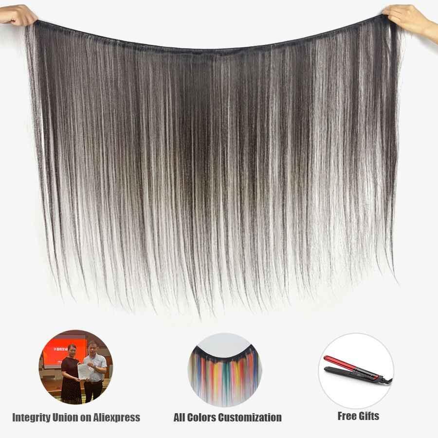 Cabello virgen de 10 a 40 pulgadas sin procesar cutícula recta humana paquetes un donante 1/3 paquetes de cabello brasileño Re4u cabello