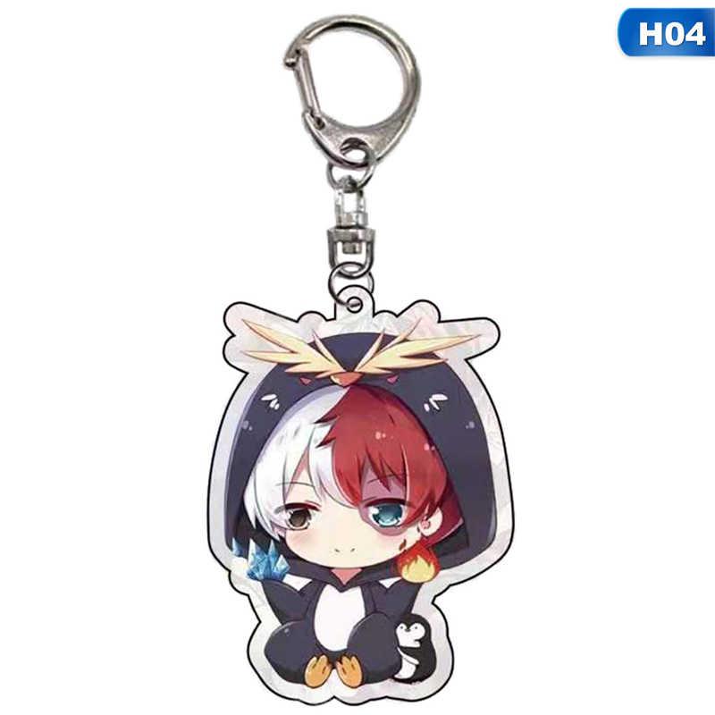 Anime My Hero Academia Boku hiçbir kahraman Academia anahtarlık akrilik anahtarlık anahtarlık kolye