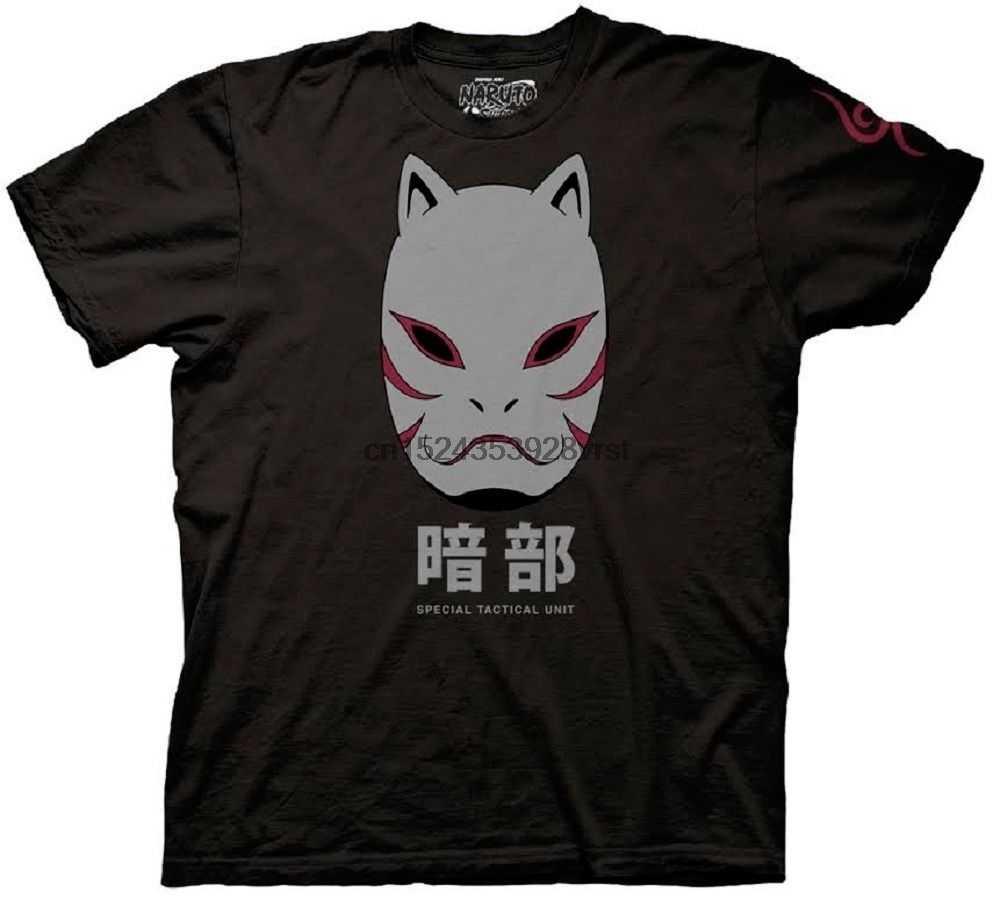 Naruto Shippuden Anbu siyah Ops maskesi gömlek karikatür T Shirt erkek Unisex yeni moda Tshirt ücretsiz kargo komik üstleri