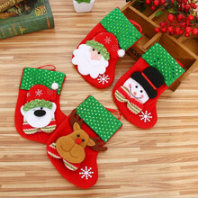 Christmas Stocking Mini Sock Decorations for Home Tree Ornaments Gift Holders Stockings New Year Bags