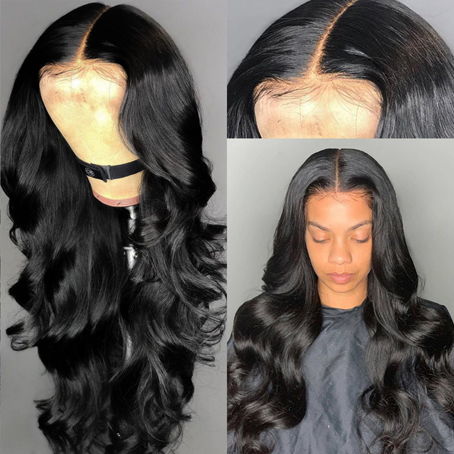 MIHAIR Lace Front Wig 13*4 Brazilian Body Wave Wig Medium Brown 150% Density Remy Lace Front Human Hair Wigs  For Women
