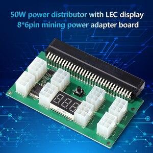 Image 3 - التعدين 750 واط خادم PSU امدادات الطاقة لوحة القطع محول مع شاشة LED 8 منافذ PCI e 6 دبوس ل HP DPS 1200FB DPS 1200QB