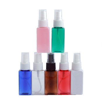 30/50/100/120ml 1/2/3pcs Transparent Portable small Empty Spray Bottles Plastic Refillable Container Empty Cosmetic Containers