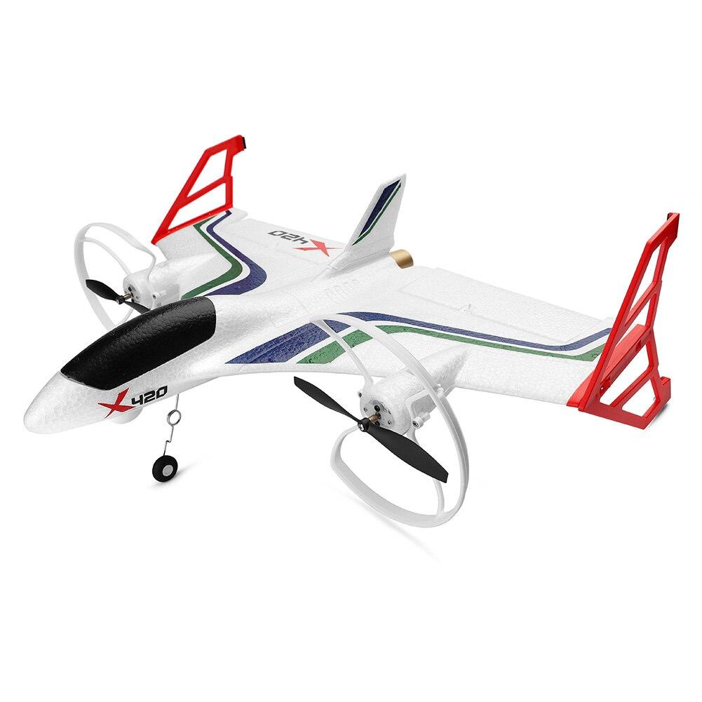 X420 дети вертикальное взлет посадка 3D 2,4G 6CH Аэробика беспилотный передатчик игрушки открытый FPV Самолет EPP RC Самолет мини