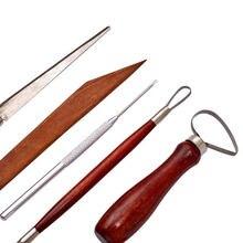 9 шт Набор для лепки из красной глины сглаживание воска резьба