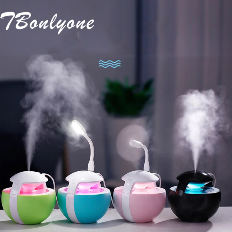 TBonlyone 450ML Ball Humidifier 3 In 1 Humidifier Fan Water Oil Aroma Diffuser Home Night Light Ultrasonic Air Humidifier