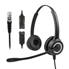 228MP QD RJ9 Call Center Headsets HD Binaural Wireless USB Headset Double Noise Reduction Customer Service Earphones With Mic