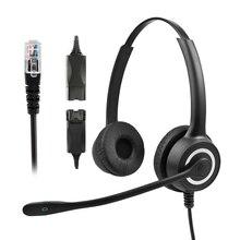 228MP QD RJ9 çağrı merkezi kulaklık HD binoral kablosuz USB kulaklık çift gürültü azaltma müşteri hizmetleri mikrofonlu kulaklık