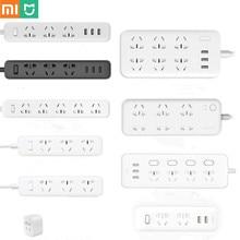 Originele Xiaomi Mijia Mi Power Strip 2A Snel Opladen 3 Usb Extension Socket Plug 6 Standaard Sockets Mi Power Strip eu/Au/Us/Uk