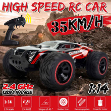 1/14 35Km/h 2WD RC Remote Control Car Off Road Racing Cars Vehicle 2.4Ghz Crawlers Electric Monster Truck Adults RC Car Toys