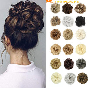 XINRAN Hair-Piece Extensions Chignons Messy Bun Curly Wedding Women for And Kids Elegant