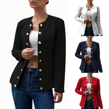 цена на blaser Jacket Women Single Breasted blaser feminina Bussiness Office Ladies Slim blaser Coat mujer Fall Solid Color Outerwear D3