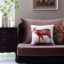 цена на Cushion Cover for Sofa Decor Zara*women Almofada Wild African Throw Velvet Pillowcase Rhinoceros Deer Wolf Lion Animals Seat