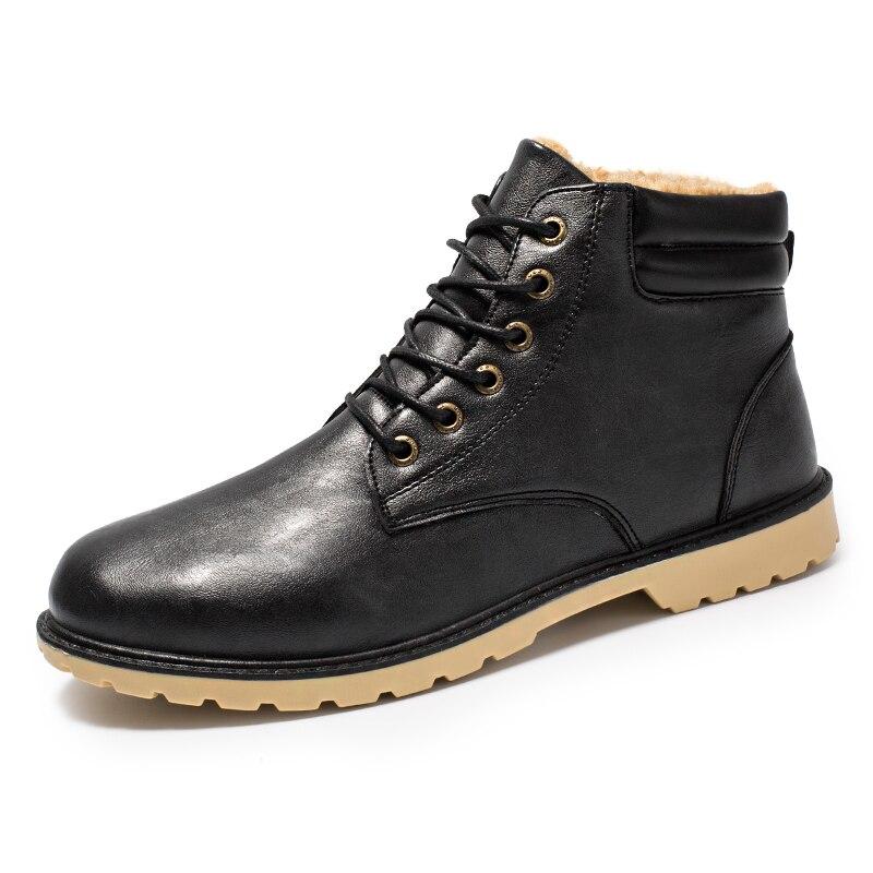 Ankle Boots 2019 New Men Boots Plush Warm Winter Shoes Men Sneakers Male Shoes Adult Winter Boots Men Shoes Boots Men