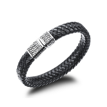 купить Classical Double Layer Handmade Leather Weaved Man Bracelets Fashion New Magnet Clasp Good Steel Wristband в интернет-магазине