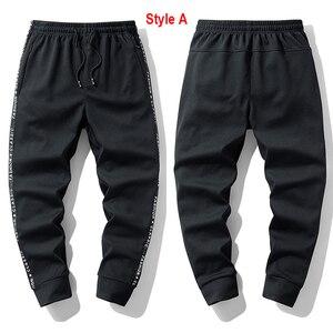 Image 2 - Супер Теплые Зимние флисовые тренировочные штаны, мужские плотные брюки джоггеры, мужские уличные длинные брюки больших размеров 6XL 7XL 8XL