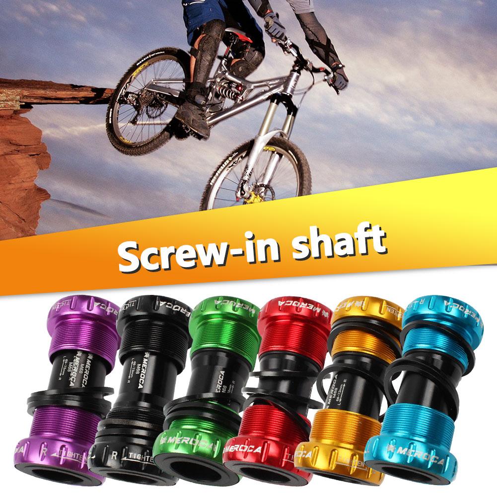 Bike MTB Bicycle Chain Wheel Bottom Bracket CNC Axis Sealed Bearings 68//73mm