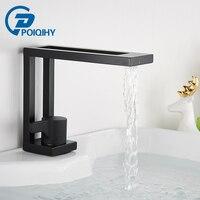 Matte Black Basin Faucets Brushed Gold Modern Washbasin Faucet Hollow design Bathroom sink Crane Cold Hot Water Mixer Tap