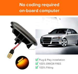 Image 4 - 2 pieces Led Dynamic Side Marker Turn Signal Light Sequential Blinker Light For Audi A3 S3 8P A4 S4 RS4 B6 B7 B8 A6 S6 RS6 C5 C7