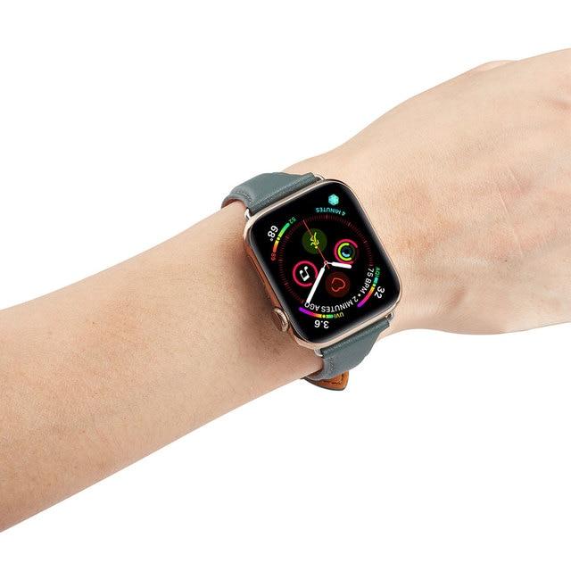 Купить ремешок для часов из натуральной кожи apple watch se 6/5/4/3/2/1 картинки цена
