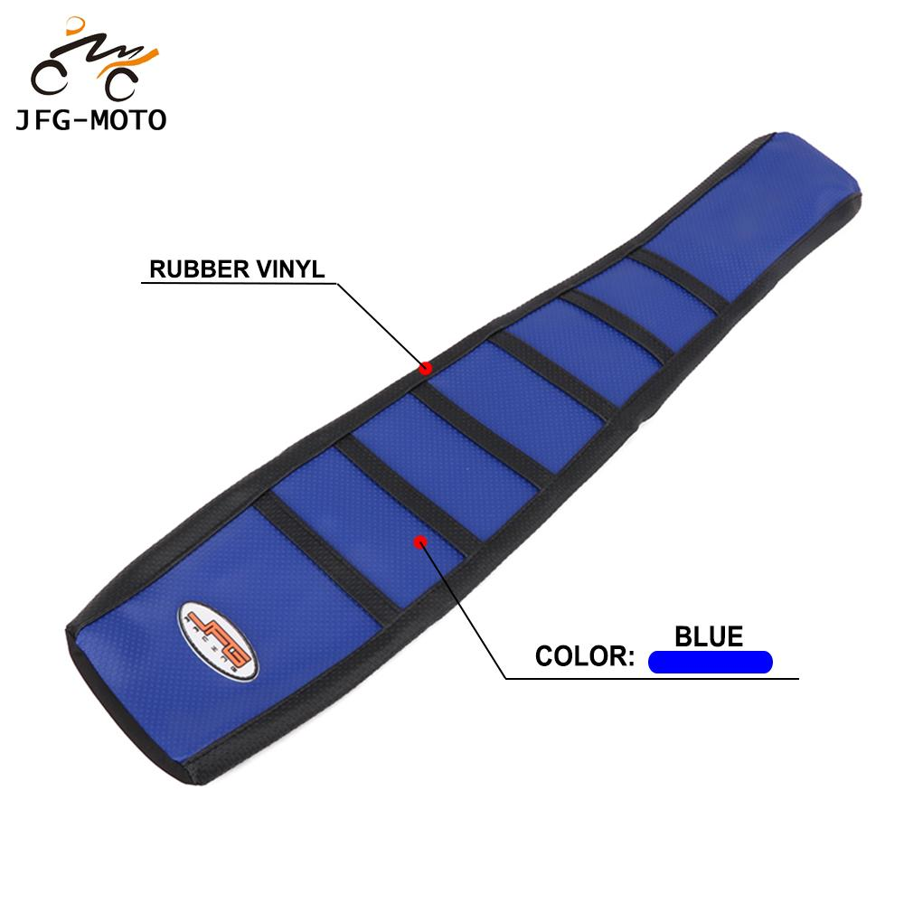 Motorcycle Rubber Striped Leather Soft Gripper Skin Seat Cover For Yamaha YZ125 YZ250 <font><b>YZ</b></font> <font><b>125</b></font> 250 1996 1997 1998 <font><b>1999</b></font> 2000 2001 image