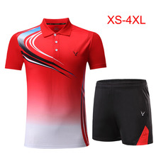 Детские комплекты для бадминтона для мальчиков и девочек красный костюм для бадминтона для девочек быстросохнущая рубашка для бадминтона Униформа командные спортивные комплекты, шорты, одежда, 3862