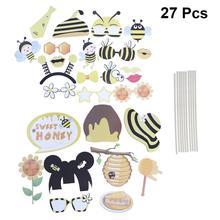 27 шт. забавные вечерние реквизиты для Хэллоуина, аксессуары для прикольных пчел, шикарные реквизиты для фотографий, предметы для вечеринки, сувениры