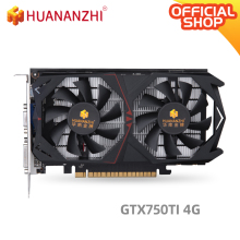 HUANANZHI GTX 750TI 4G graphics card 128Bit GDDR5 5000MHz 1020MHz HDMI DVI DP 28Nm 640Units 70W GTX 750TI 4G Video Car