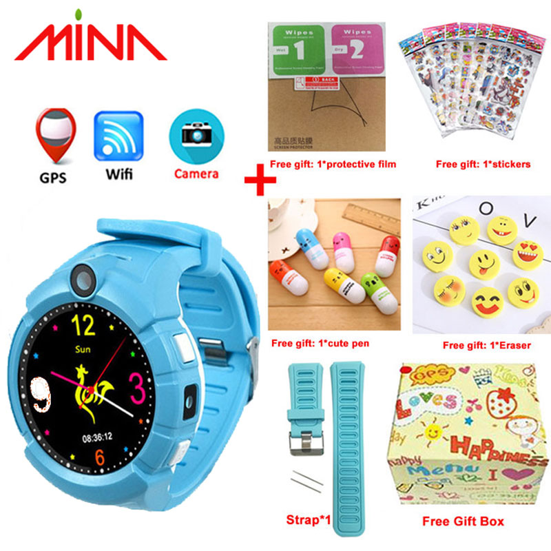 Q360 Kids Smart Watch with Camera GPS WIFI Location Child smartwatch SOS Anti Lost Monitor Tracker baby WristWatch-in Smart Watches from Consumer Electronics